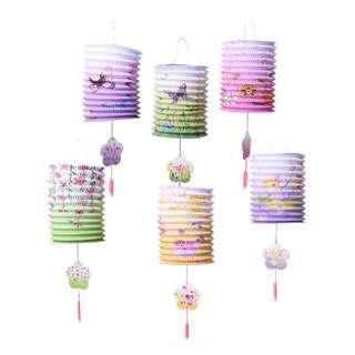 Partyforte 122 Premium Paper Lantern (Floral) - w Wax Candle