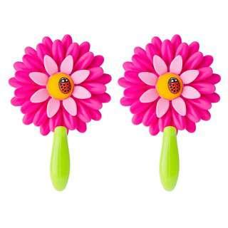 Vigar Flower Power Pink Cabinet Hook