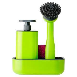 Vigar Sink Side Set Organiser W/Soap Dispenser & Dish Brush