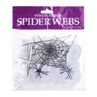 Partyforte Halloween White Web Decoration