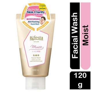 Bifesta Moist Facial Wash for Clear & Bright Skin