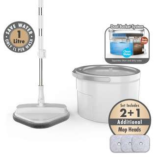 HOUZE The Angular Clean Water Spin Mop