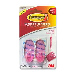 3M Command Perfectly Pink Medium Hooks