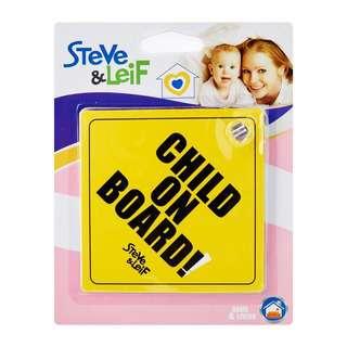 Steve & Leif Baby On Board Car Sign