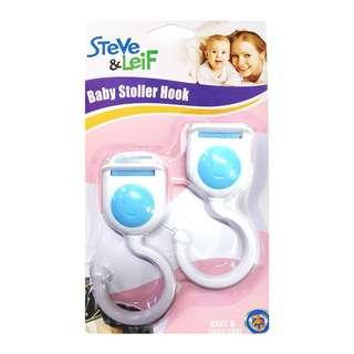 Steve & Leif Stroller Hook White (2 Pcs) - Baby Safety