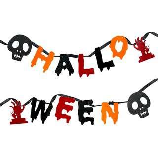 Partyforte Halloween DieCut Felt Banner DIY(Assorted)