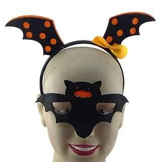 Partyforte Halloween Costume Mask Head Bopper Set - Bat