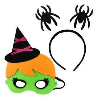 Partyforte Halloween Costume Mask Head Bopper Set - Witch