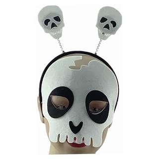 Partyforte Halloween Costume Mask Head Bopper Set - Skull