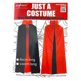 Partyforte Halloween Double Layer Red& Black Cape-Collar 140C
