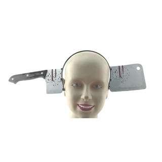 Partyforte Halloween Cleaver in Head Headband
