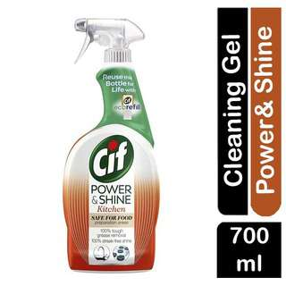 Cif Power and Shine Kitchen Cleaner- Safe for Food Preparatio