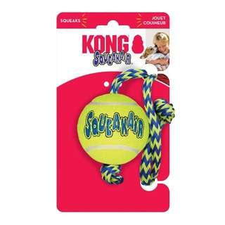 Kong Squeak Air Ball with Rope