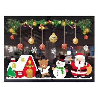 Partyforte Christmas Window Glass Decoration Assorted Design