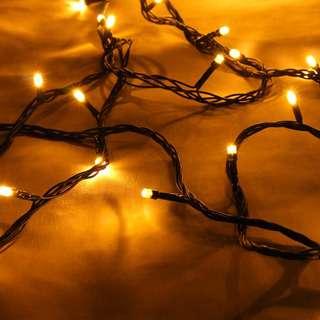 Partyforte 10 M 100 Bulbs Warm White LED Christmas Chain Ligh