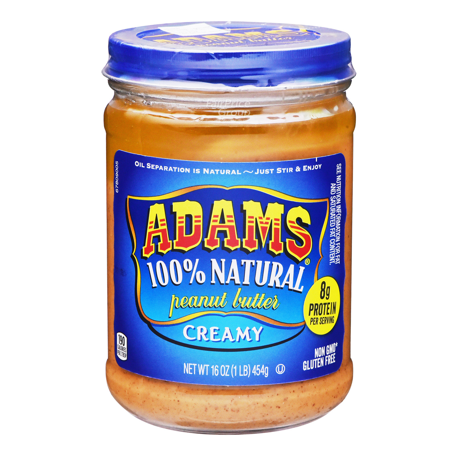 Adams 100% Natural Peanut Butter - Creamy