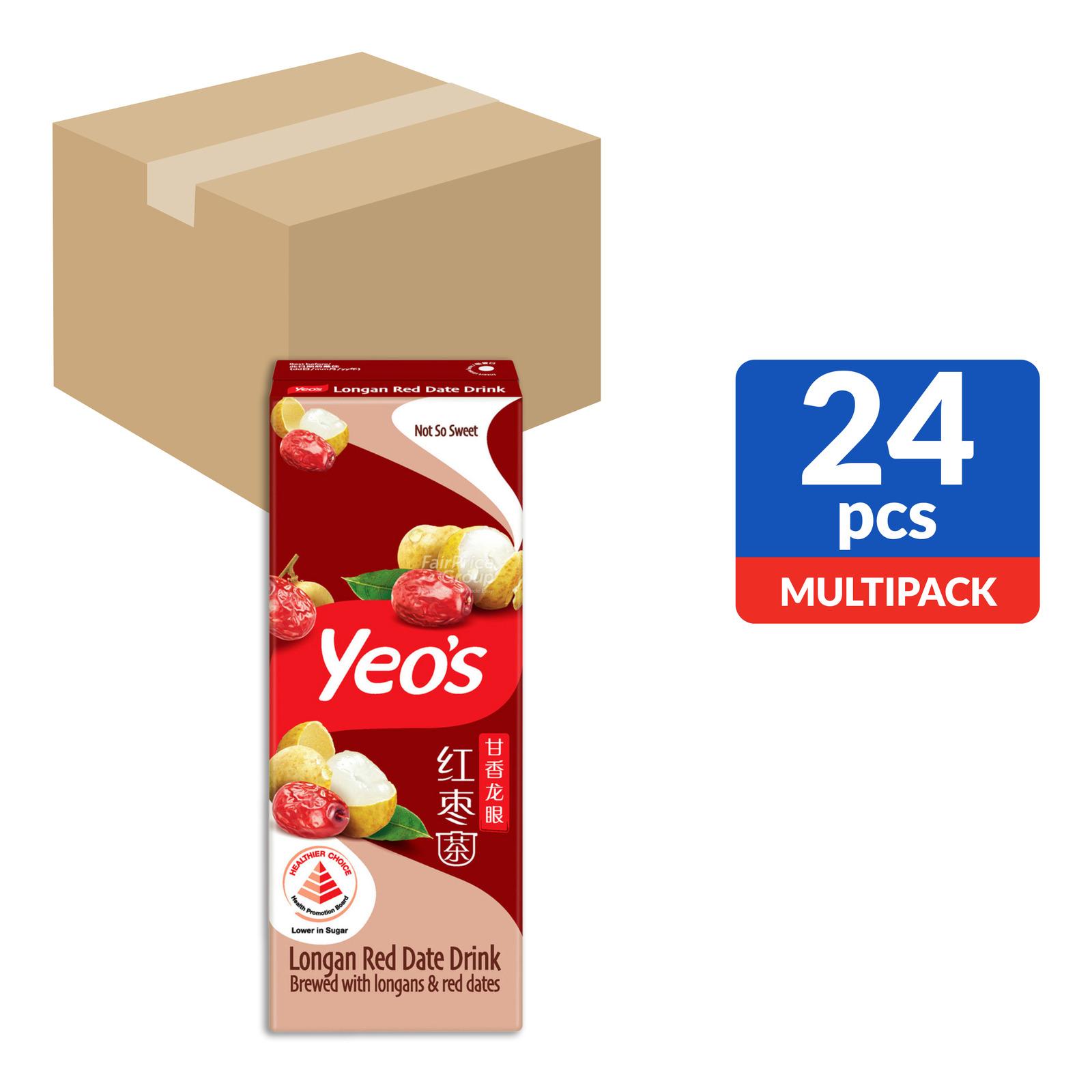 YEO'S Longan Red Date Drink 24sX250ml