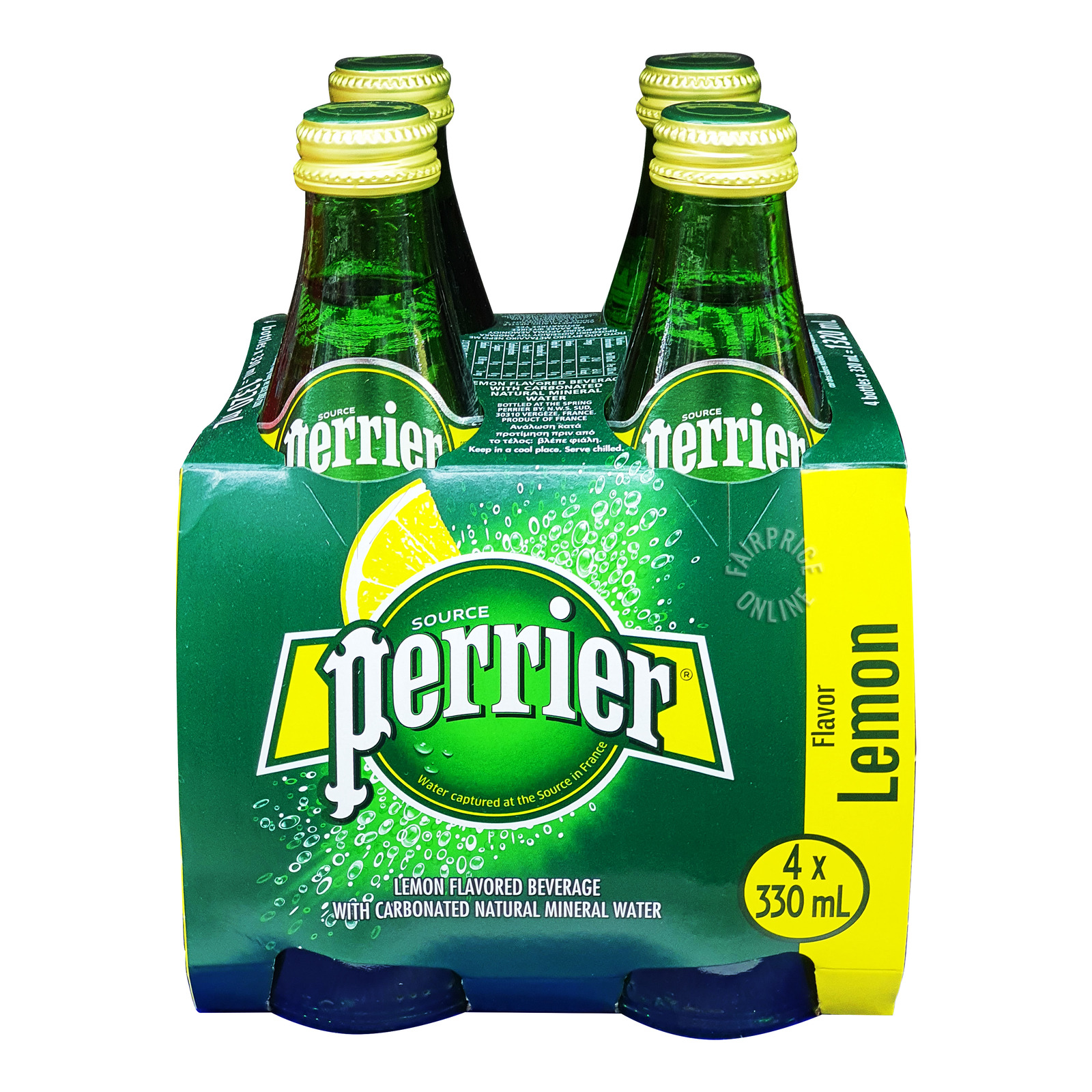 PERRIER Lemon Sparkling Natural Mineral Water 4sX330ml