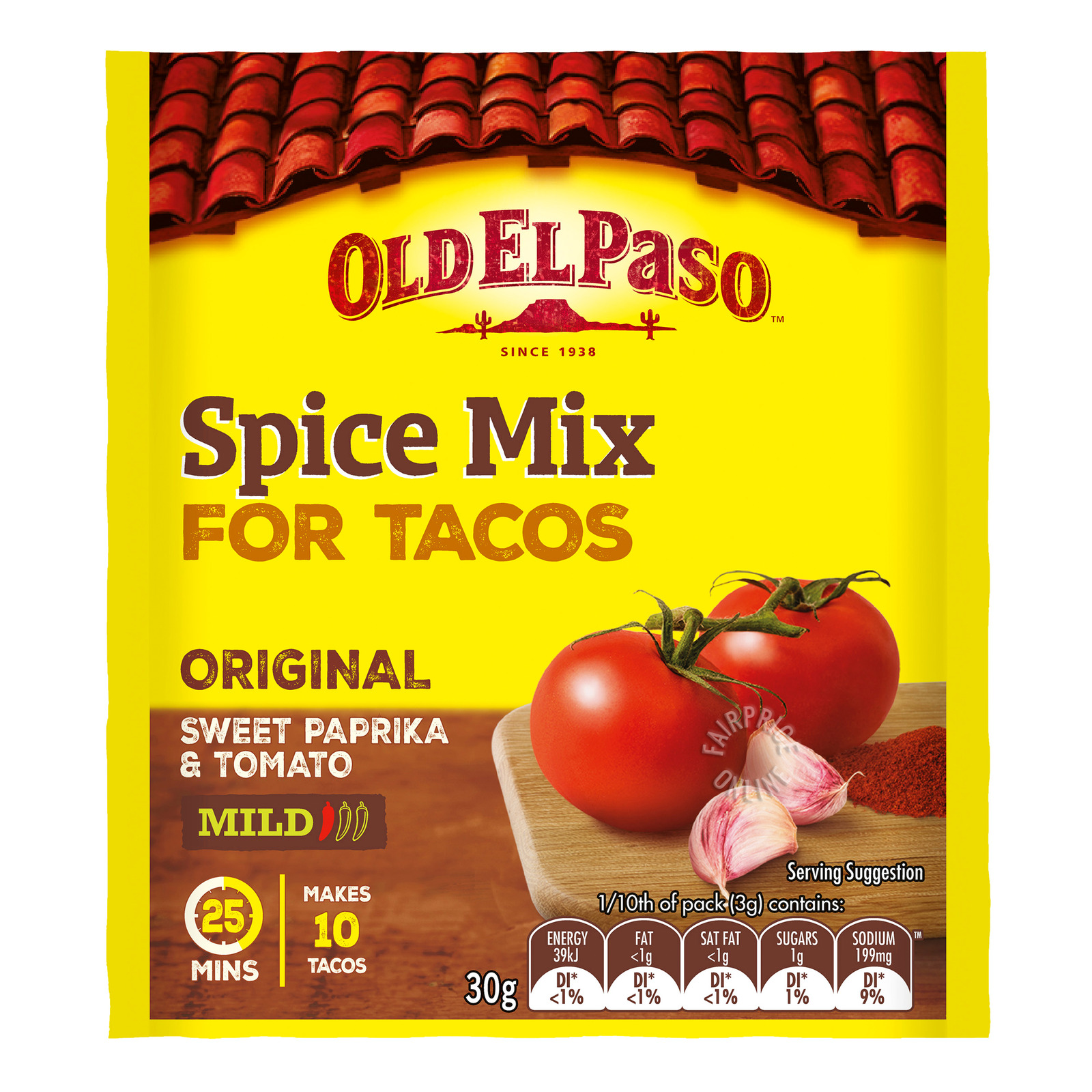 Old El Paso Taco Spice Mix Mild Spicy Ntuc Fairprice