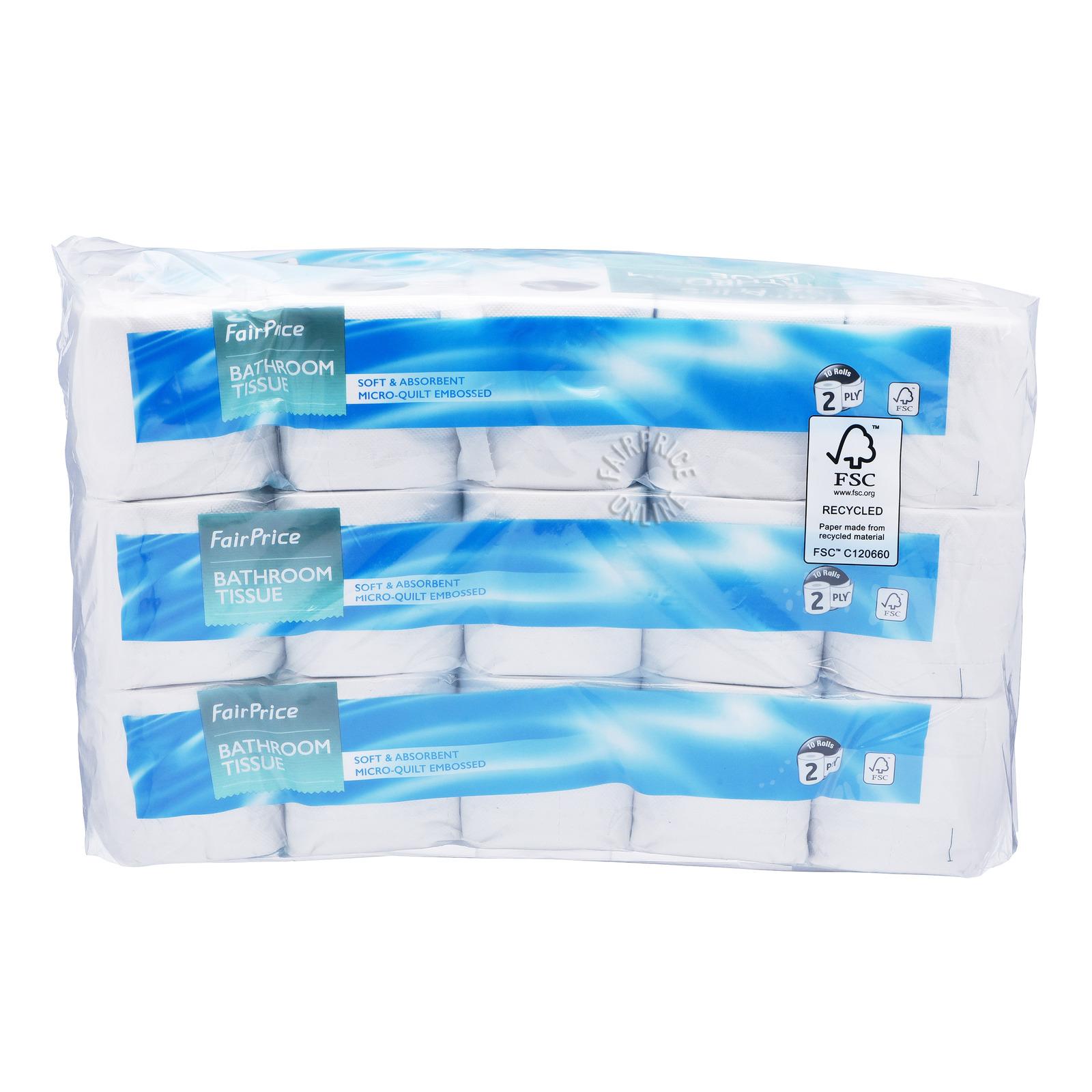 FairPrice Bathroom Tissue Rolls (2ply)