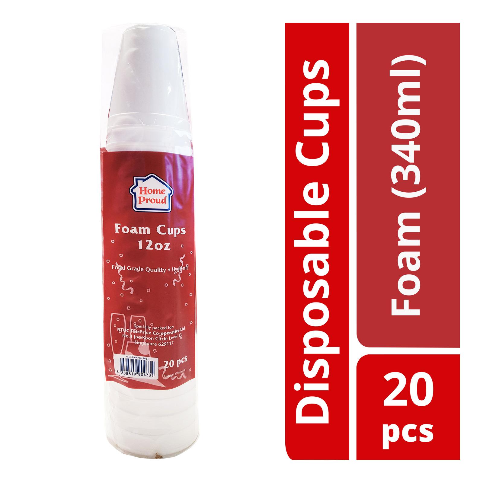 HomeProud Disposable Cups - Foam (340ml)