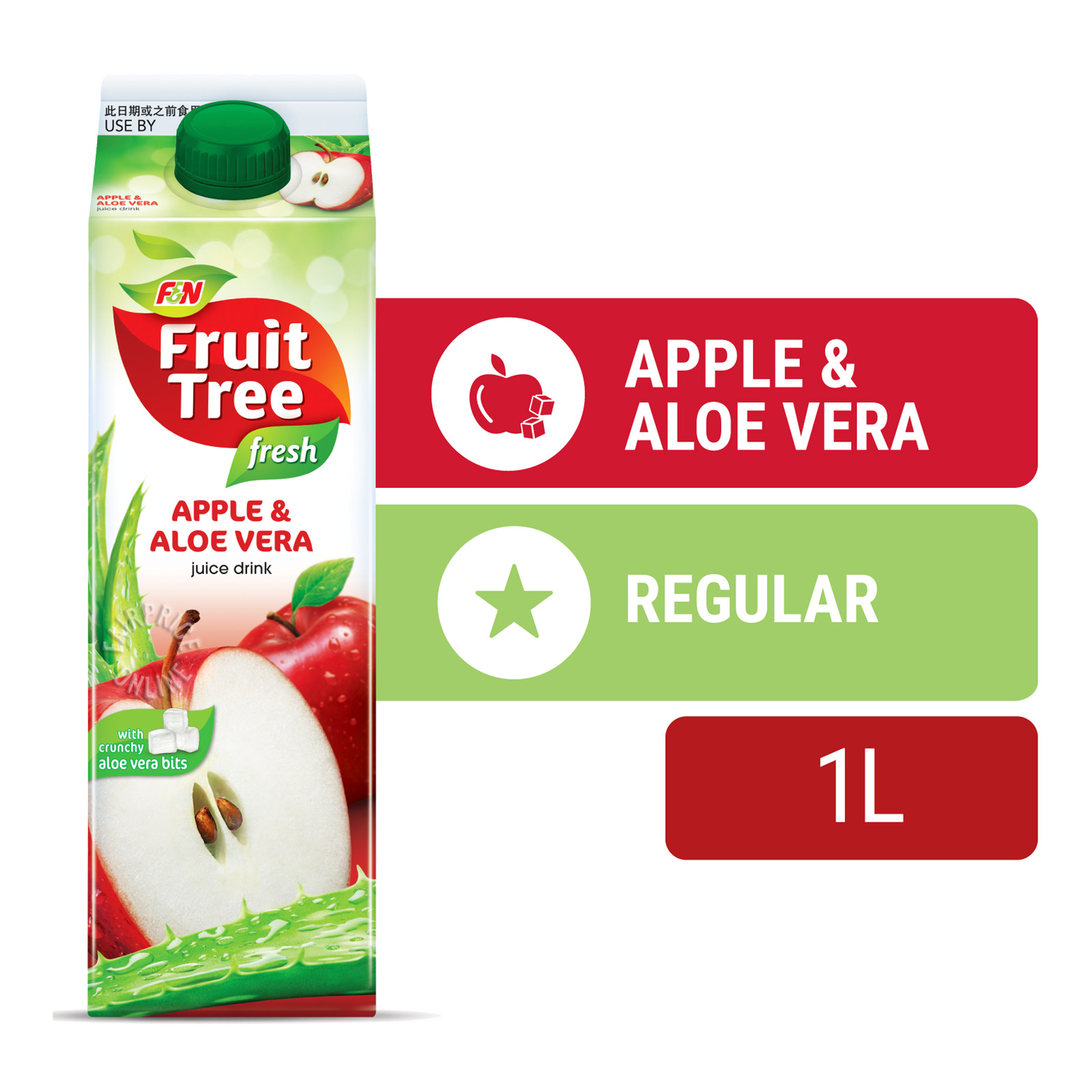 Fruit Tree Fresh Reduced Sugar Apple Juice Drink 1L