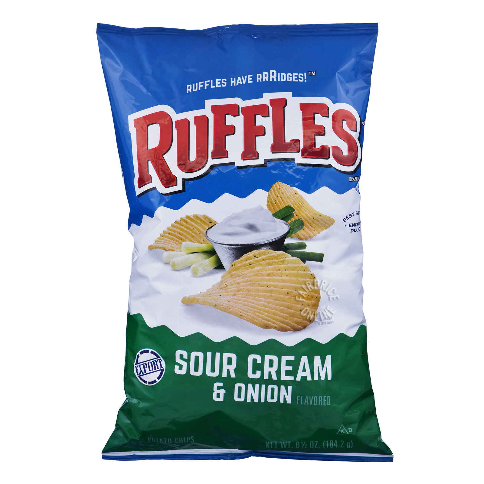 Ruffles Potato Chips - Sour Cream & Onion