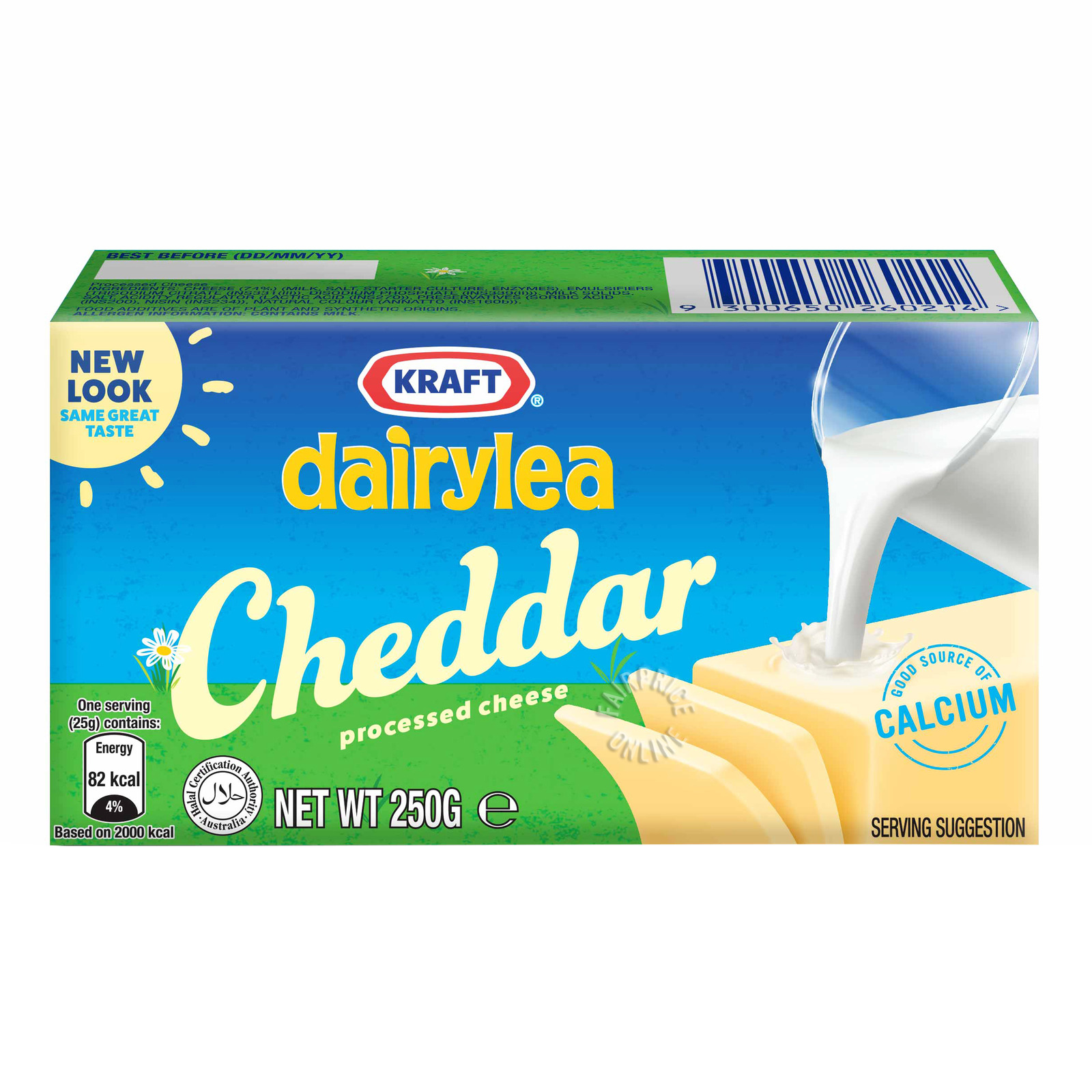 Kraft Cheddar Processed Cheese Block