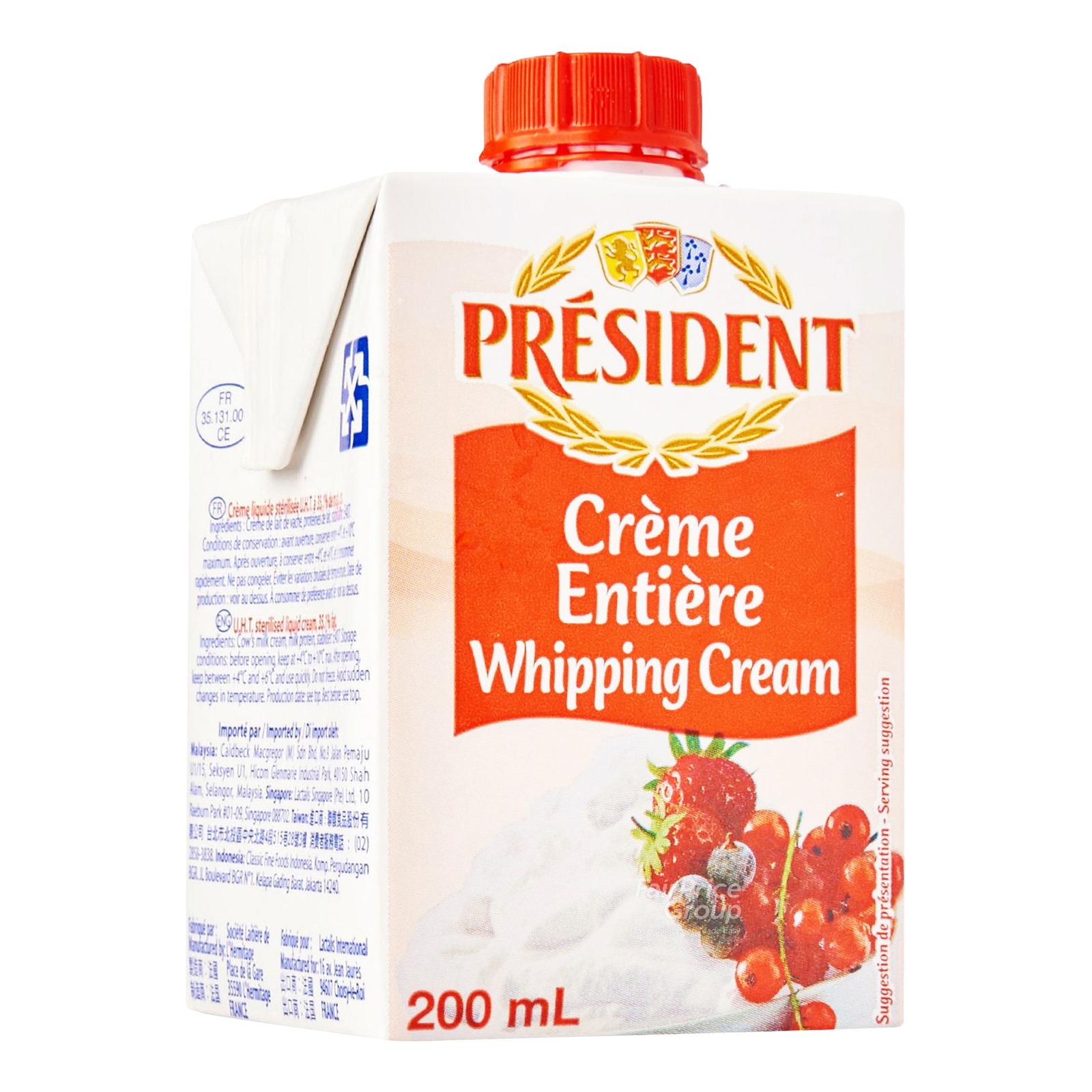 President Whipping Cream