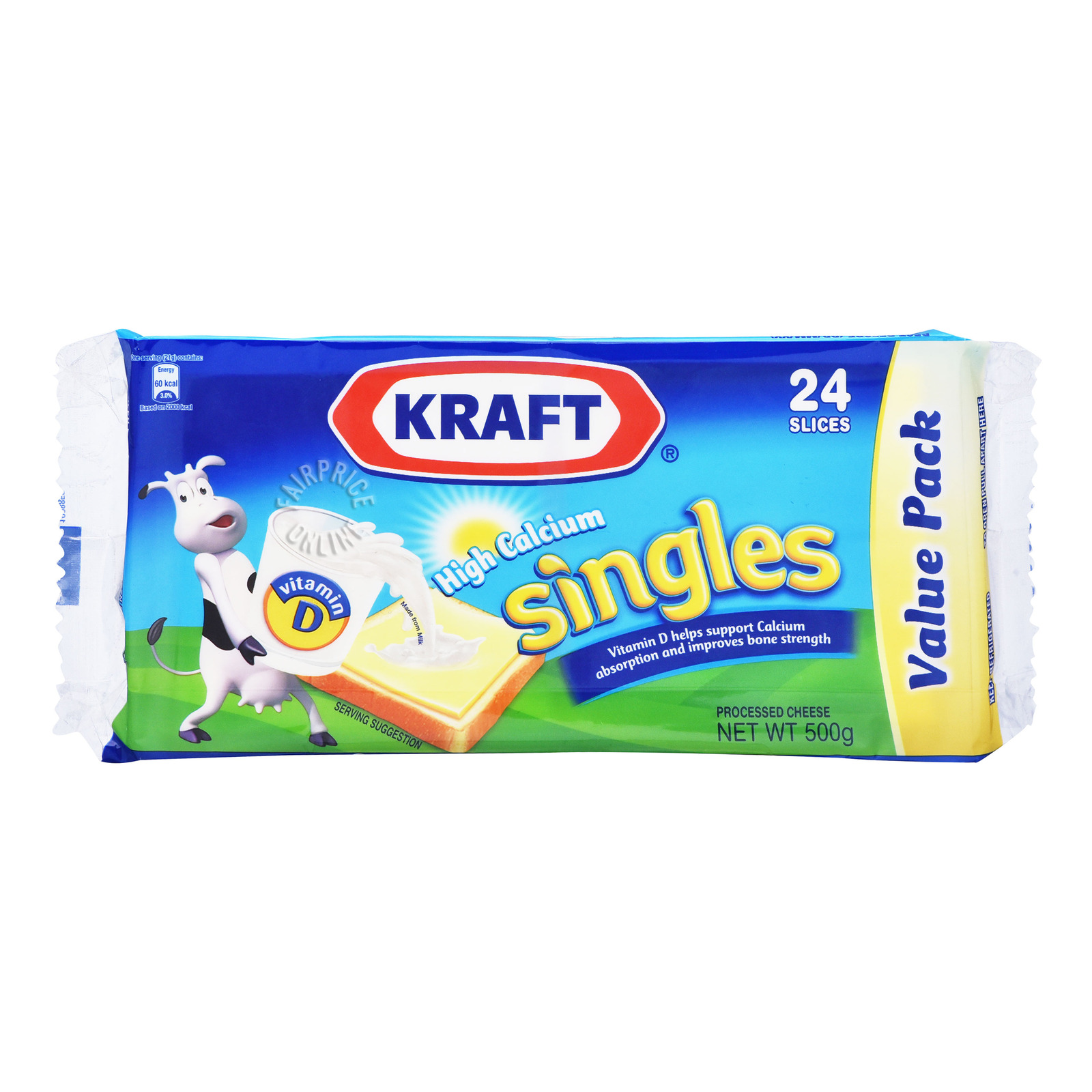 Kraft Hi-Calcium Singles Cheese