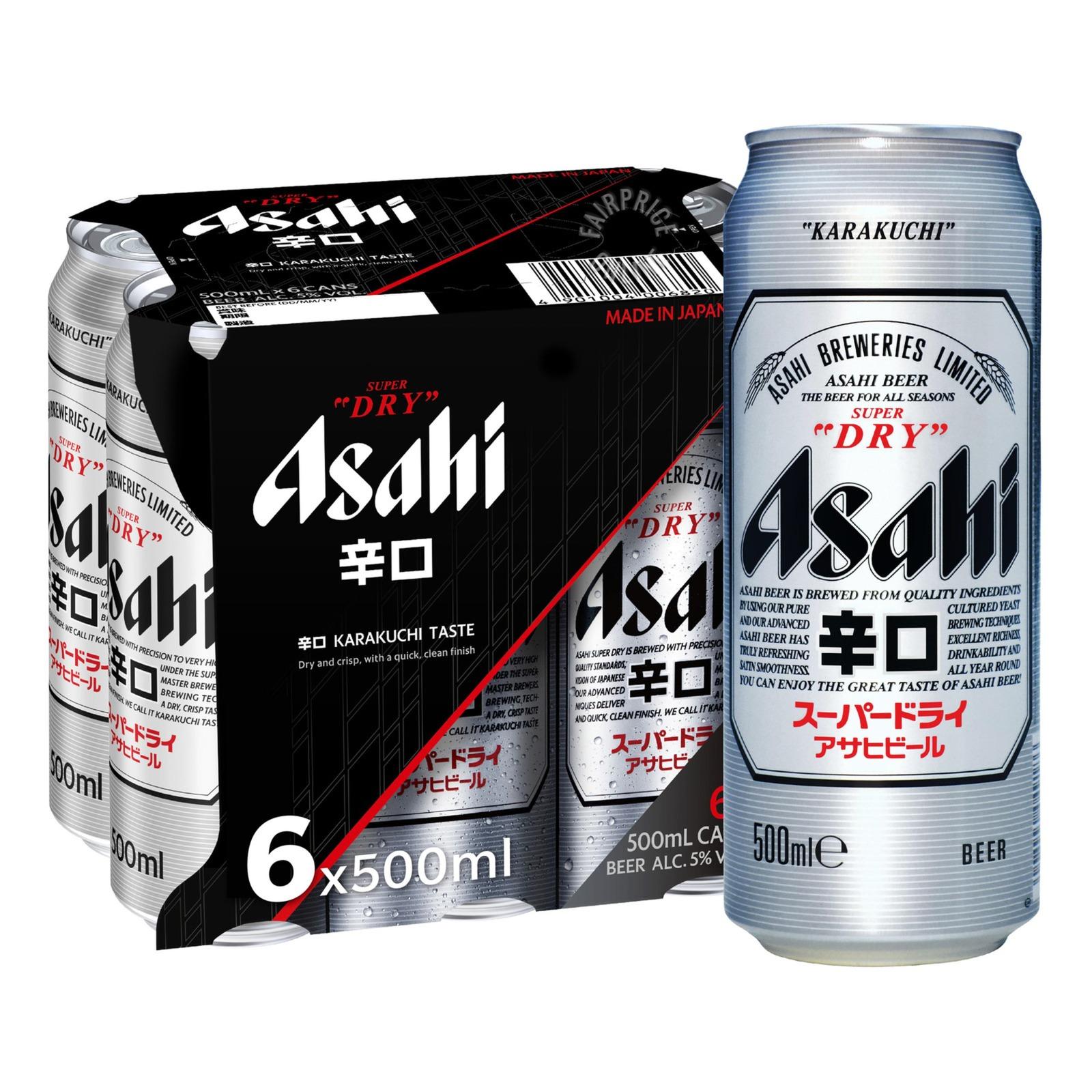 ASAHI Super Dry Draft Beer 6sX500ml