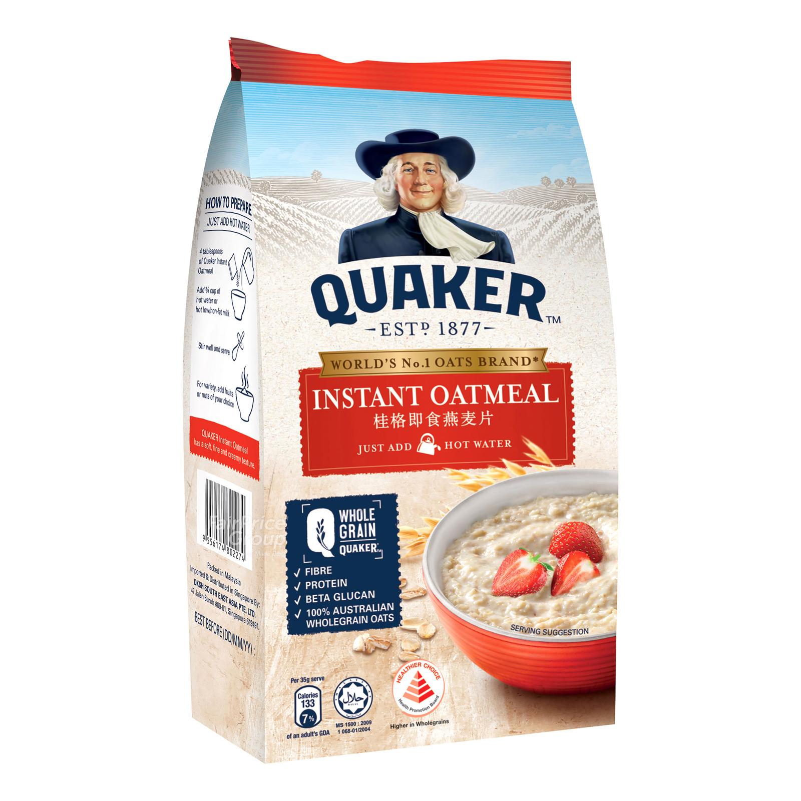 Quaker 100% Wholegrain Oatmeal Refill - Instant