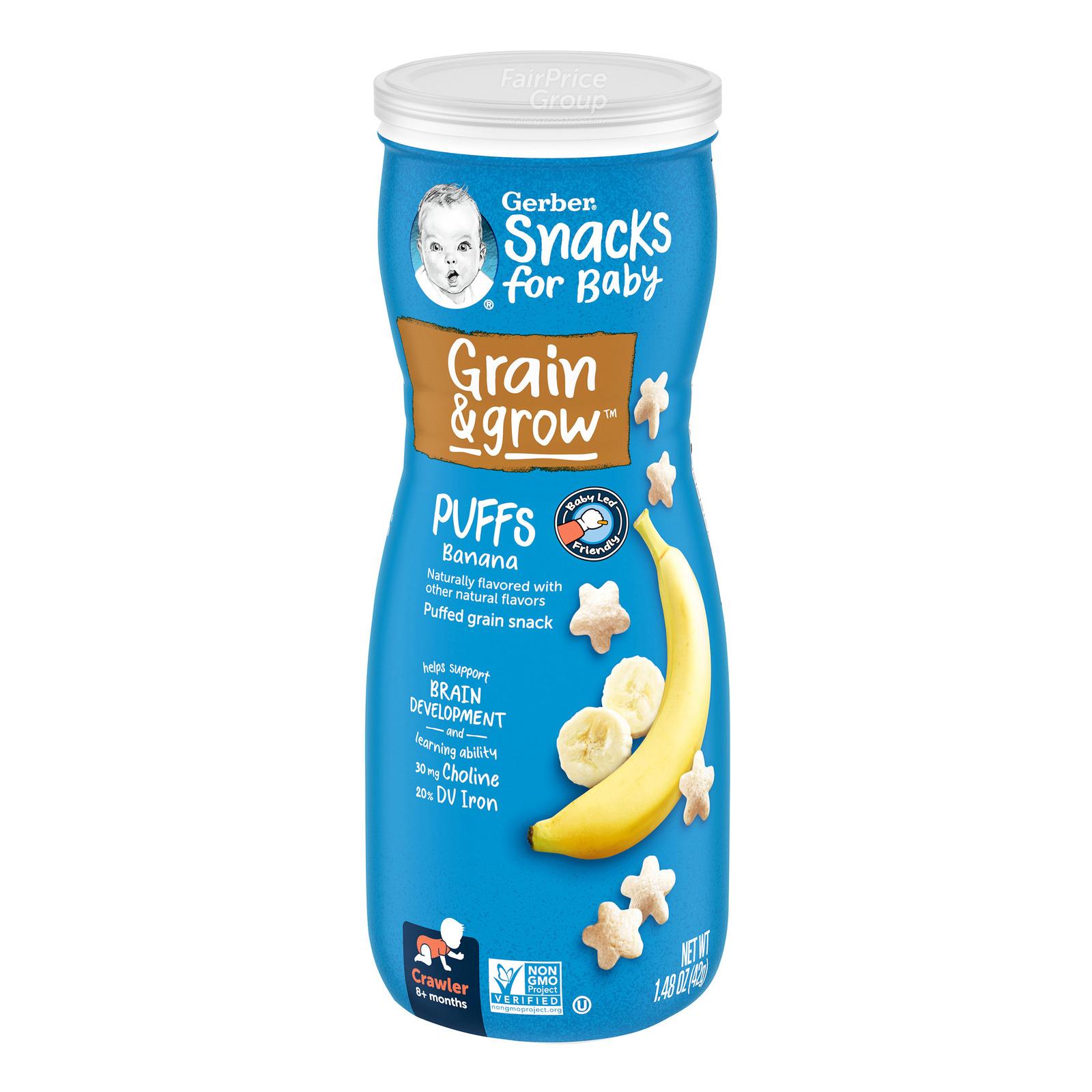 Gerber Graduates Baby Puffs - Banana