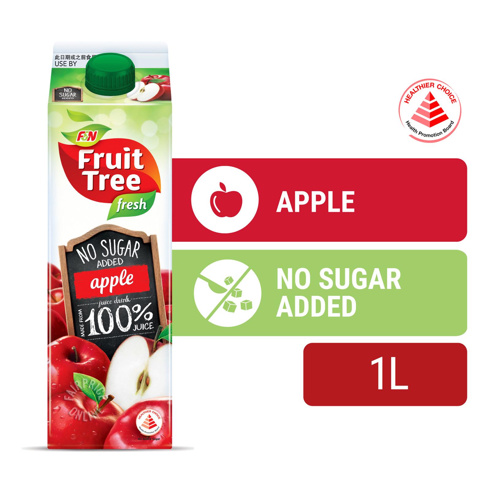 F&N Fruit Tree Fresh No Sugar Added Juice - Apple