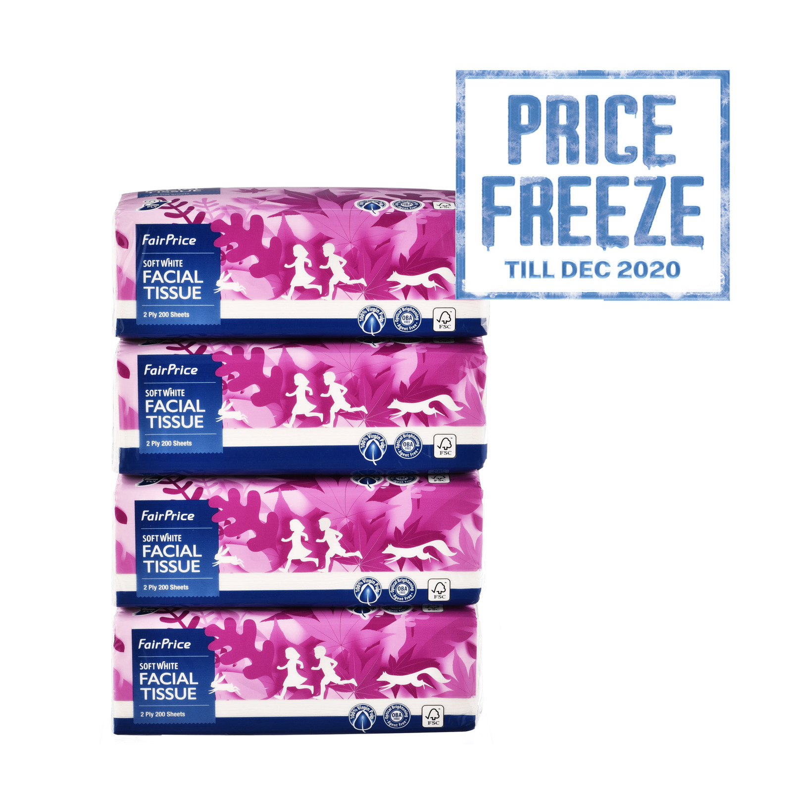 FairPrice Facial Tissues - Soft Pack (2ply)