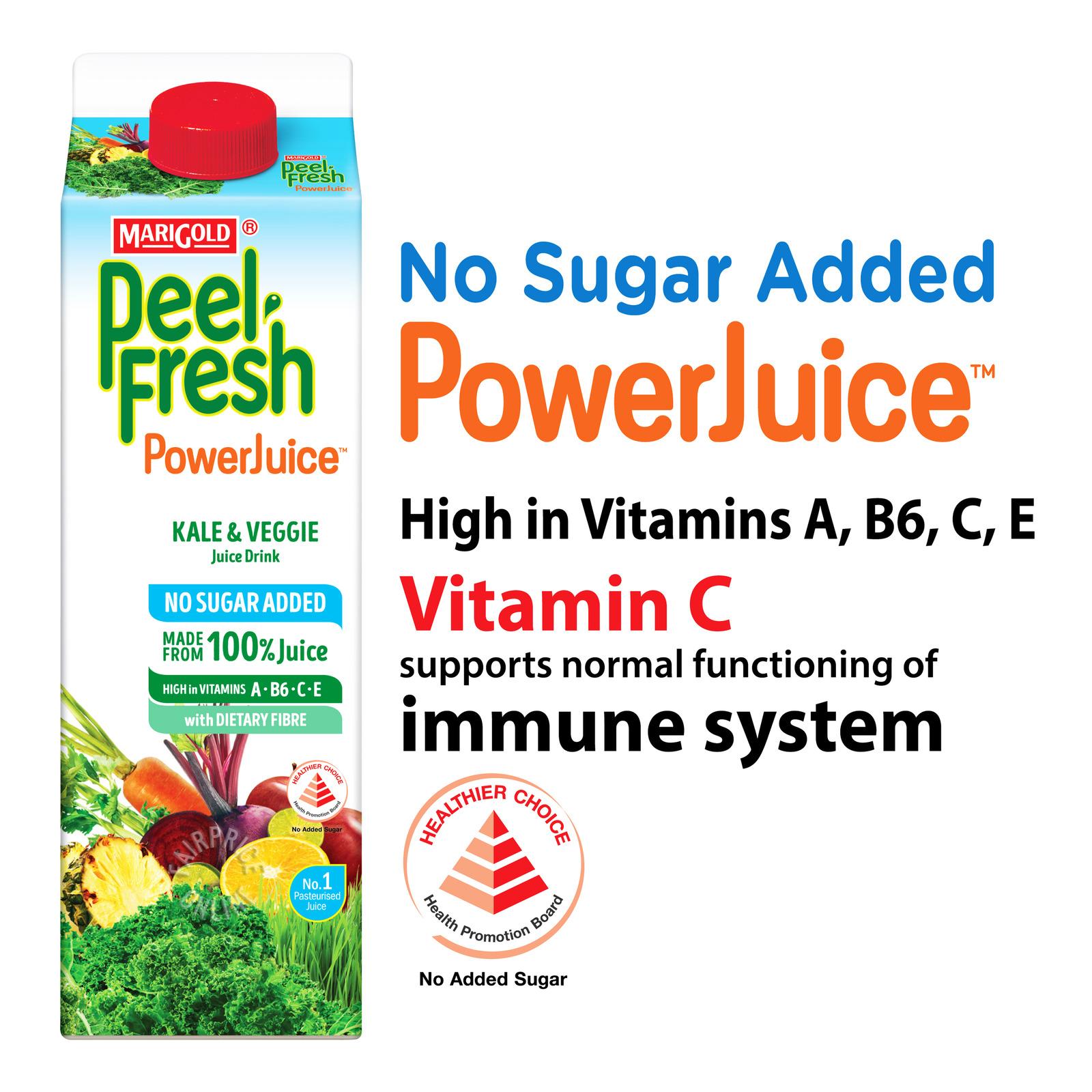 Marigold Peel Fresh Juice - Kale & Veggie (No Sugar)