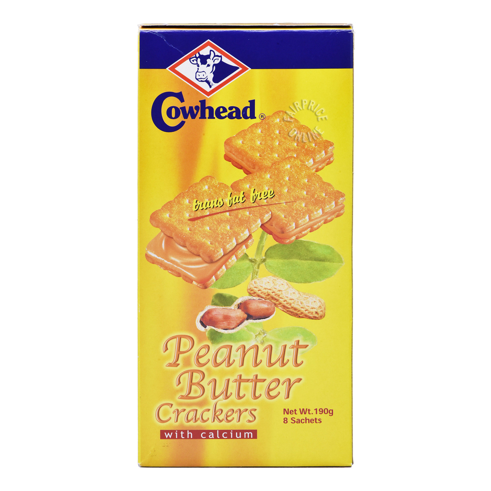 Cowhead Sandwich Crackers with Calcium-PeanutButter
