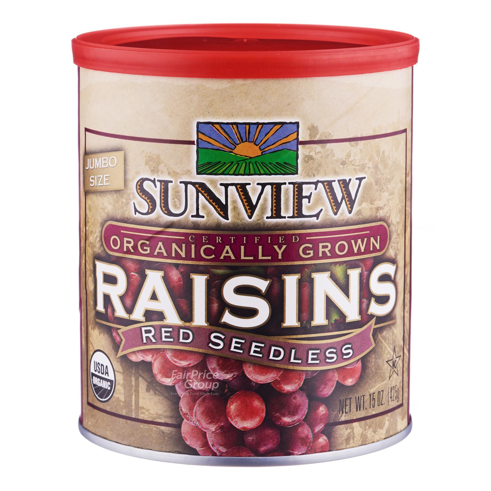 Sunview Organically Grown Raisins - Red Seedless