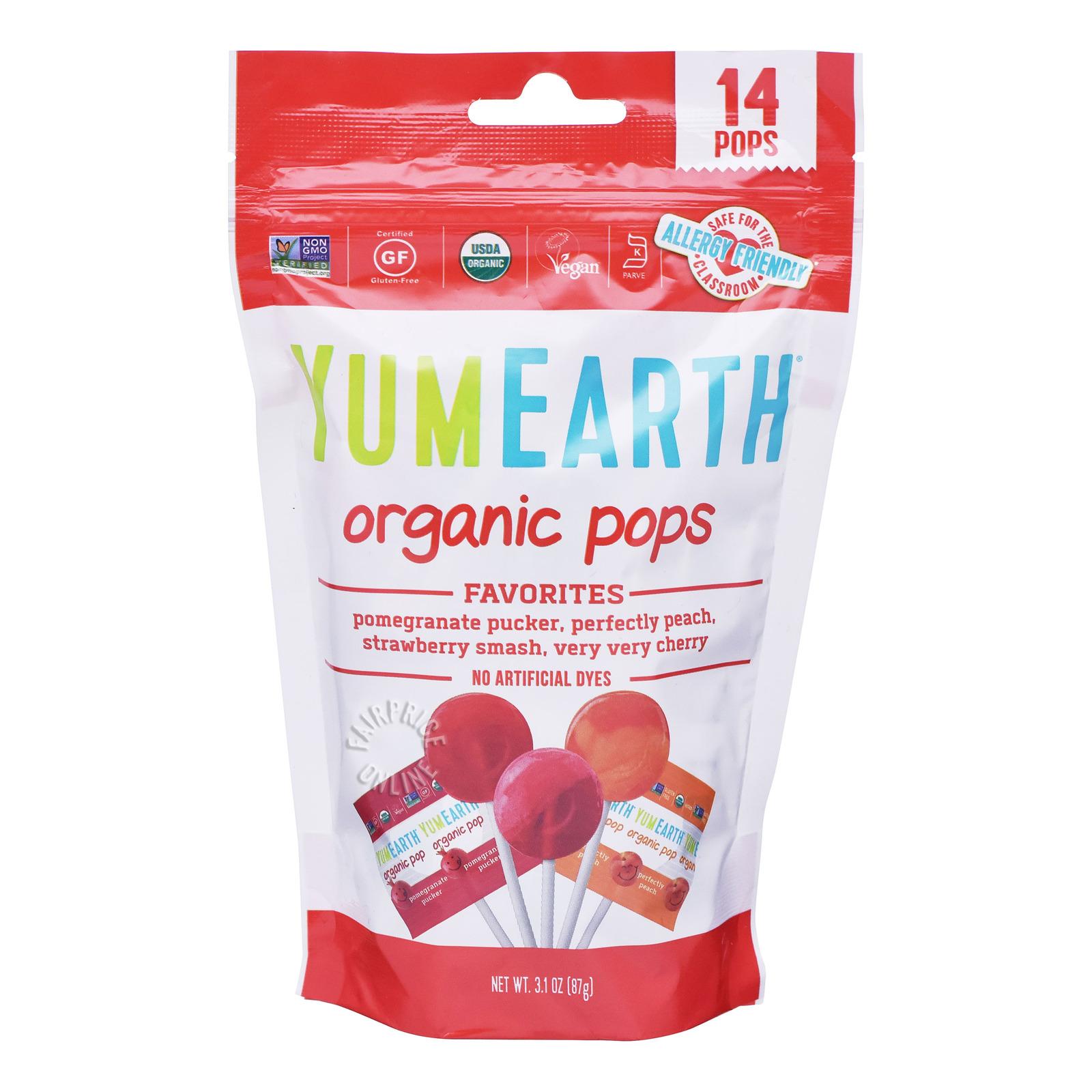 Yum Earth Organics Lollipops - Assorted