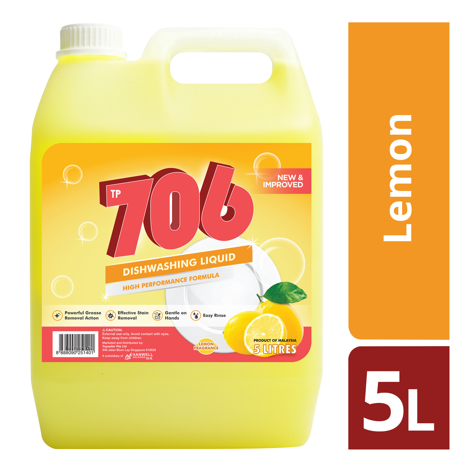 TP 706 Dishwashing Liquid - Lemon