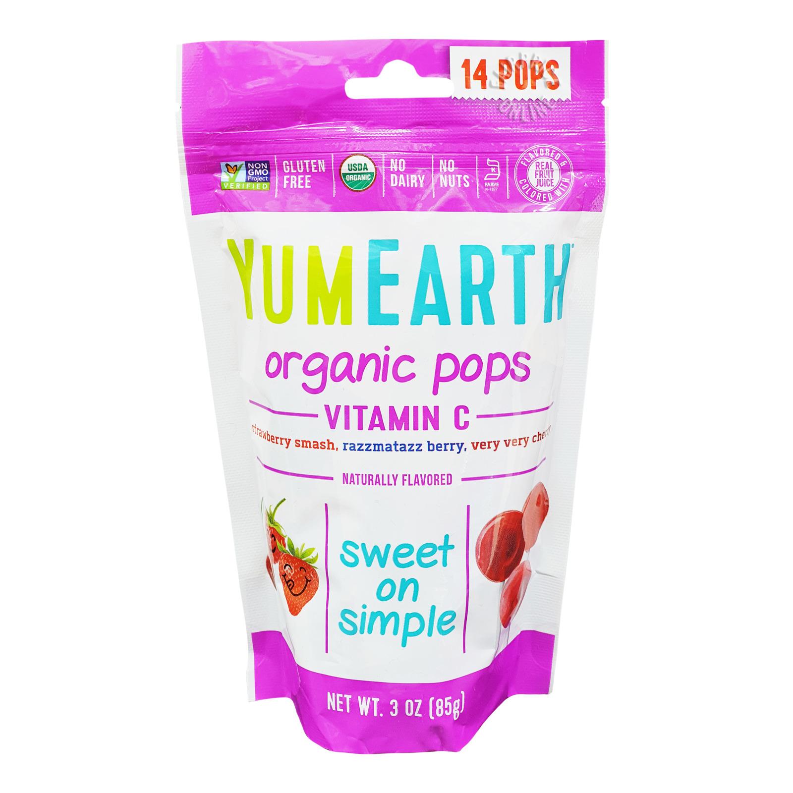 Yum Earth Organics Lollipops - Vitamin C Pops (Mixed Berries)