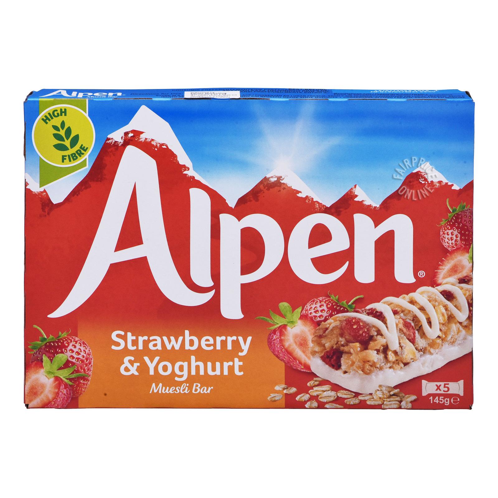 Alpen Cereal Bar - Strawberry & Yogurt