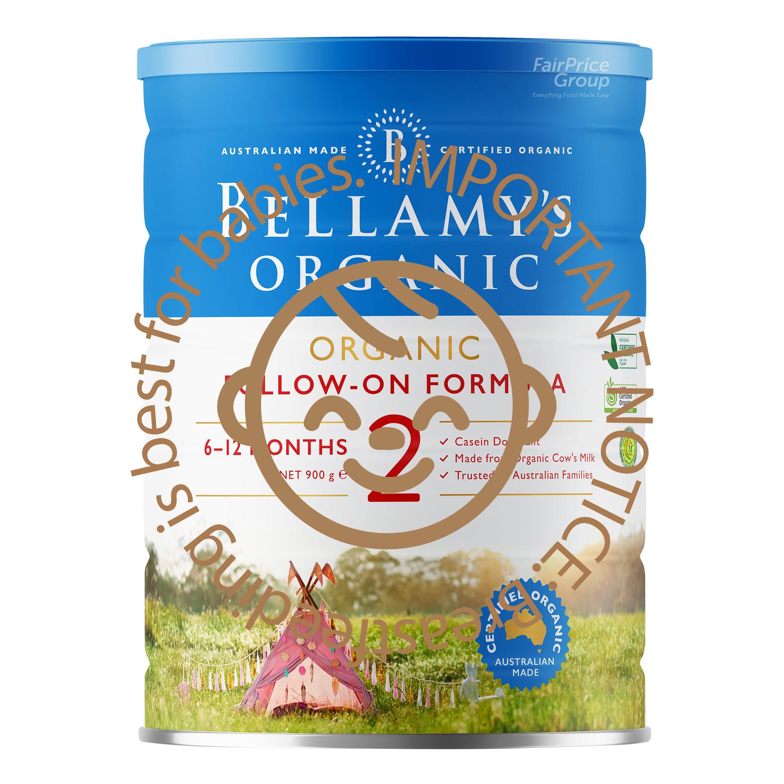 BELLAMYS ORGANIC organic step 2 follow on formula 900g