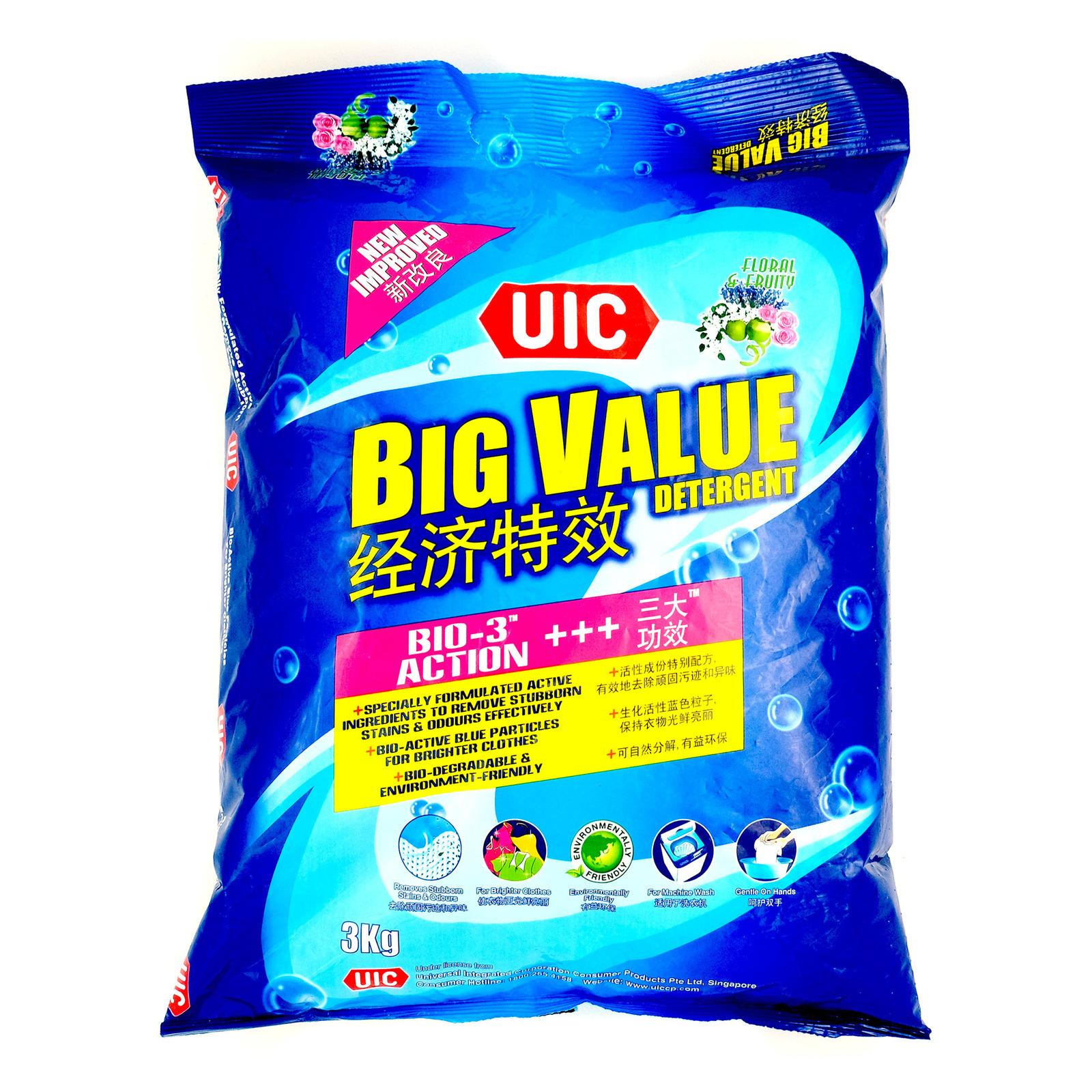 UIC Big Value Detergent Powder - Regular (Floral Fruity)