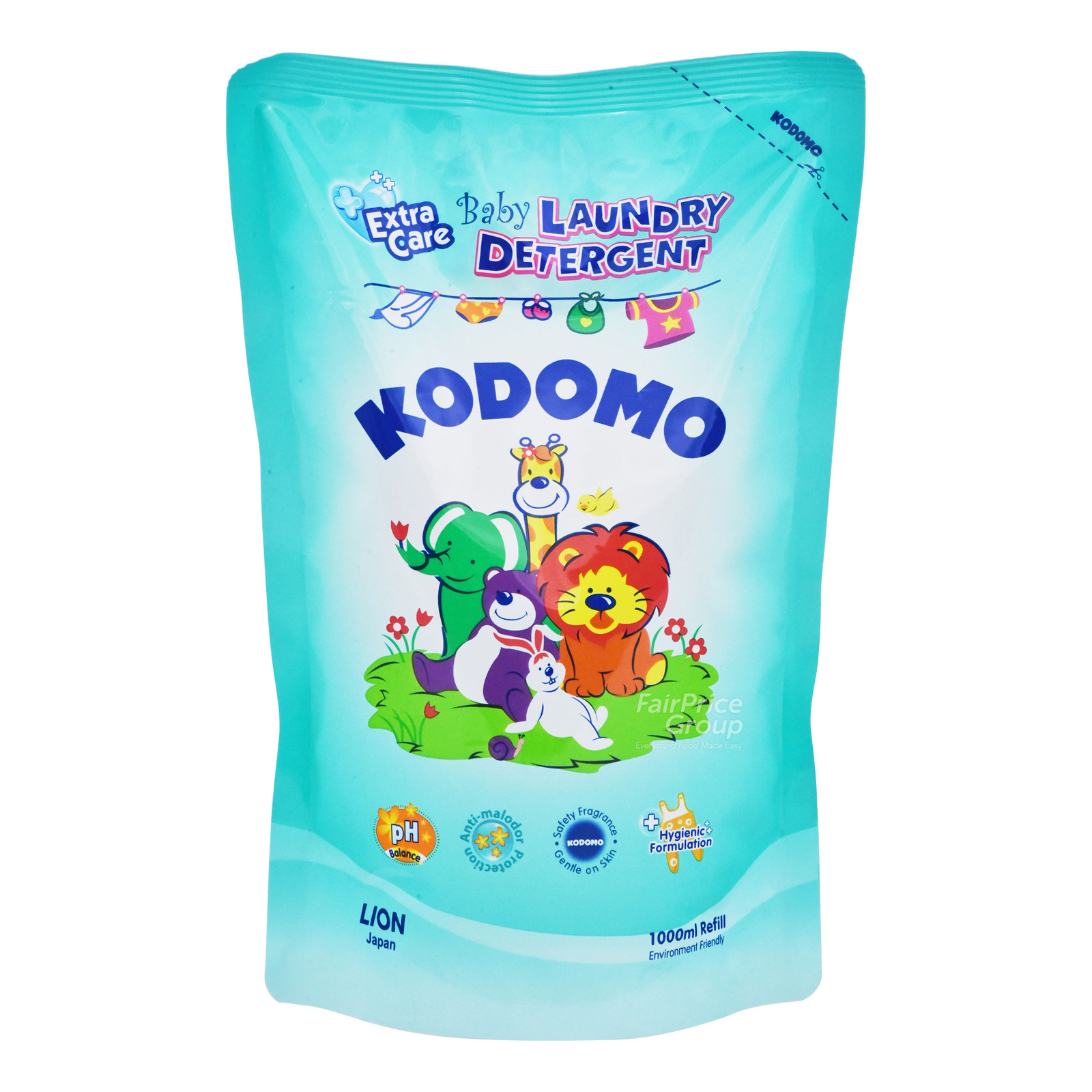 KODOMO baby laundry detergent 1l refill extra care