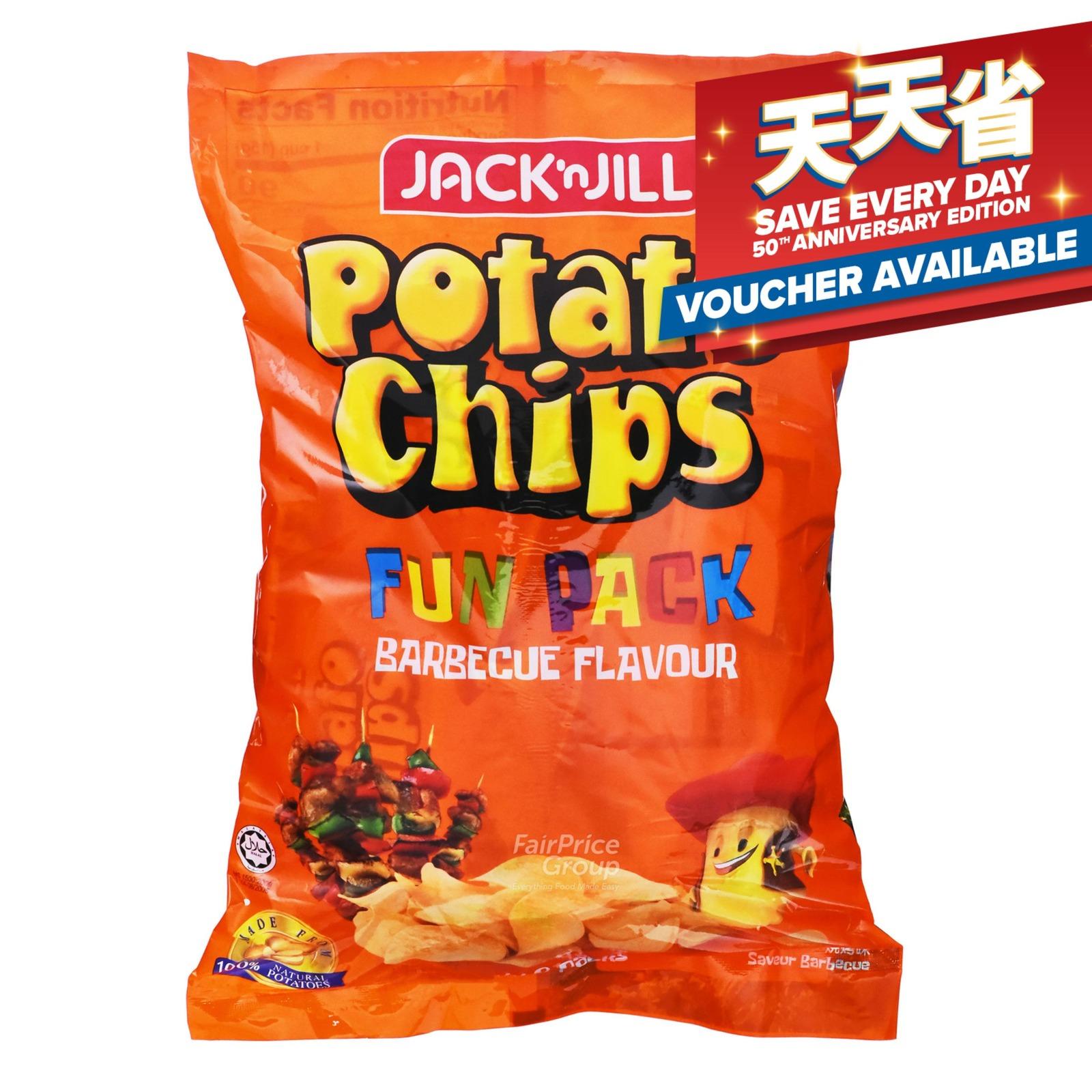 Jack 'n Jill Potato Chips - Barbecue (Funpack)