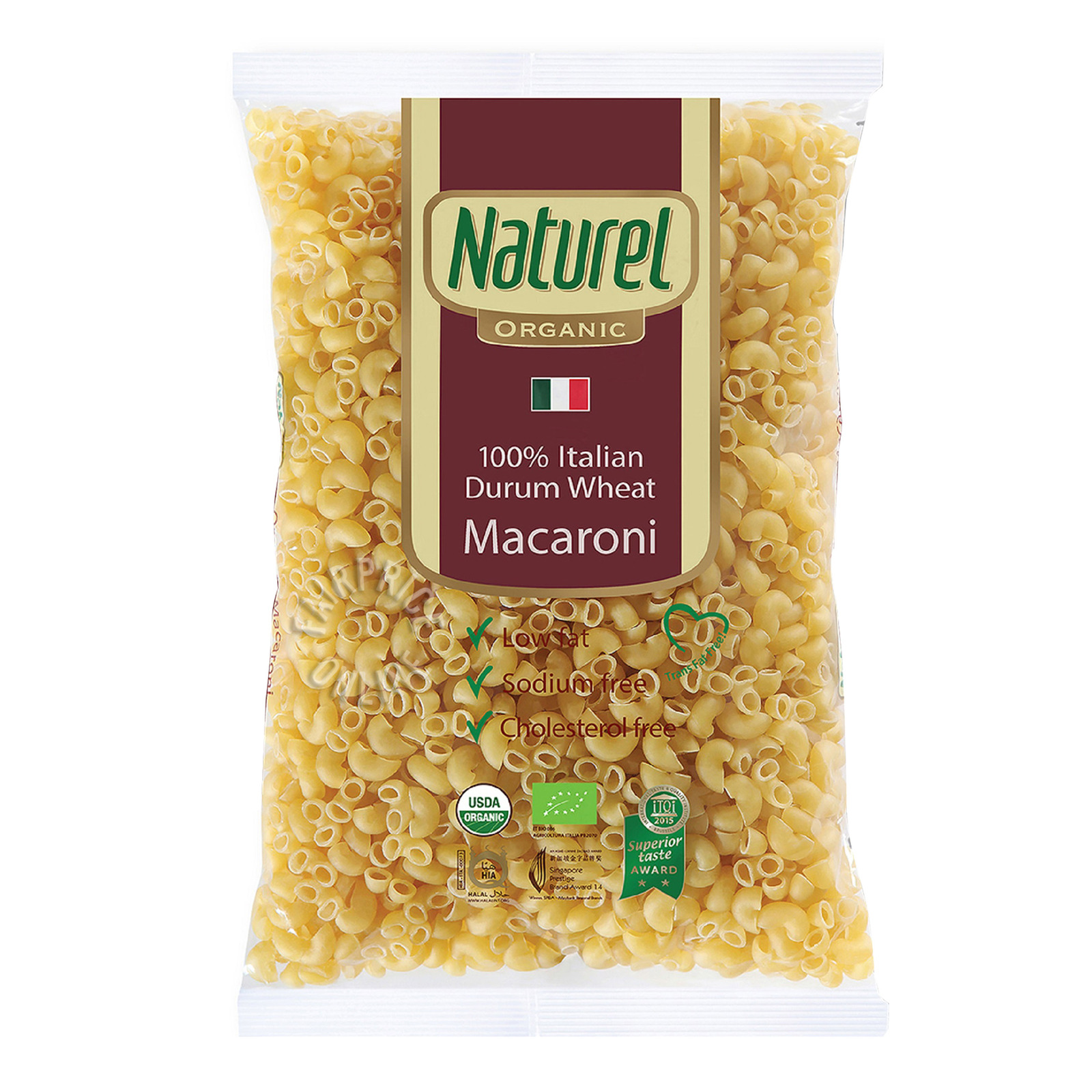 NATUREL Organic Durum Wheat Macaroni 500g