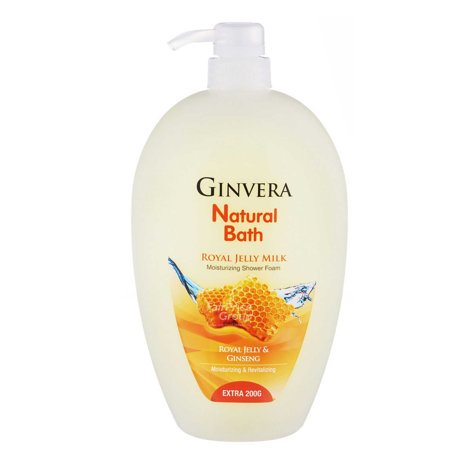 Ginvera Natural Bath Shower Foam - Royal Jelly Milk