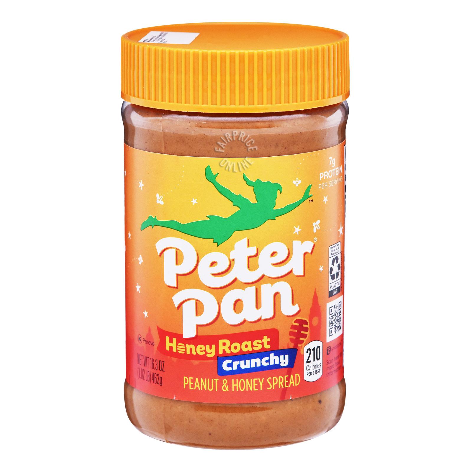 Peter Pan Crunchy Peanut Butter - Honey Roast