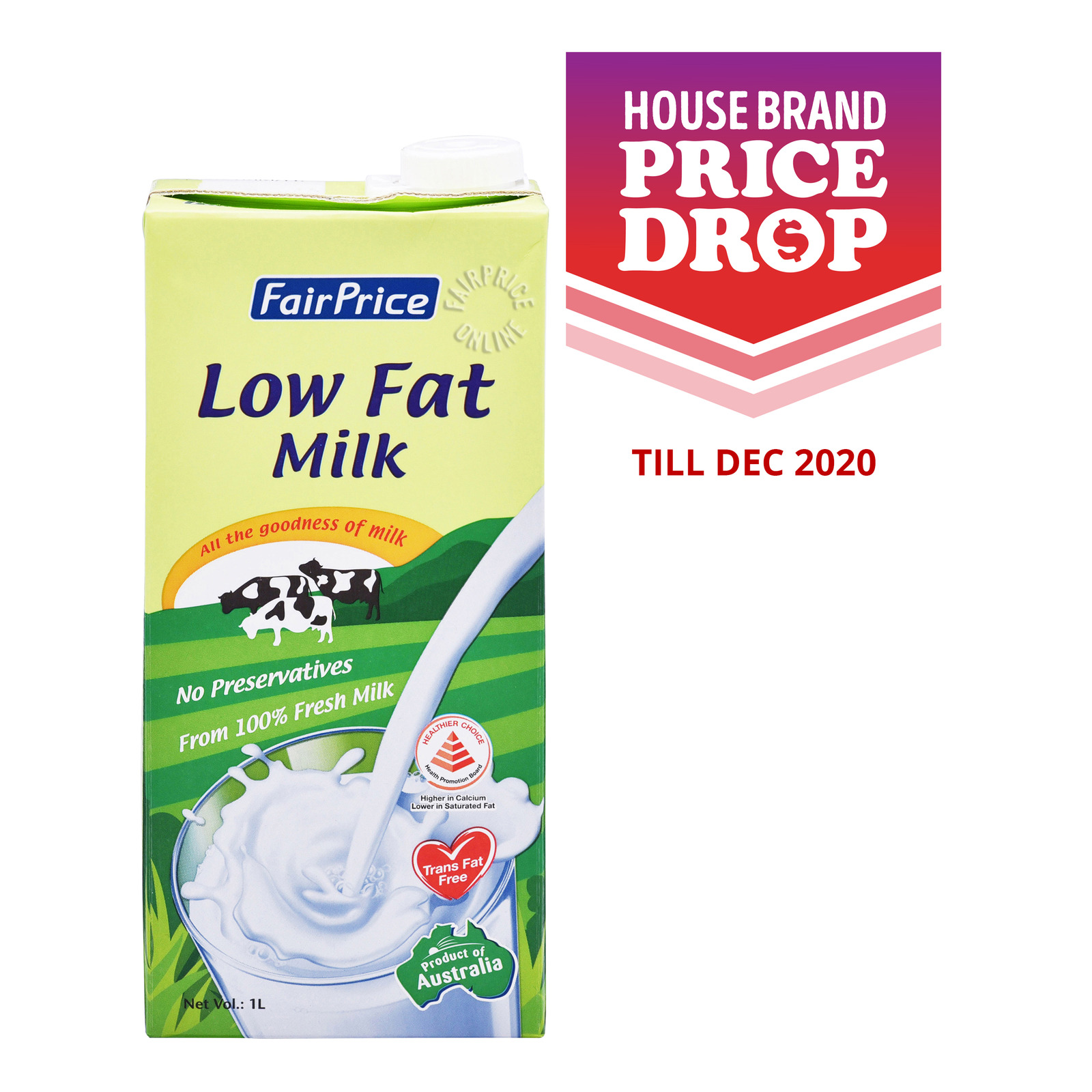 FairPrice UHT Milk - Low Fat
